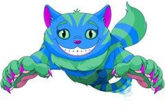 Cheshire Cat banhoppning vektor illustrationer