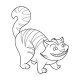 Cheshire Cat coloring book vector illustration Stock Photo