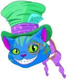 Cheshire Cat en sombrero de copa Imágenes de archivo libres de regalías