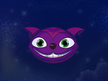 Cheshire cat head. Stock Photo