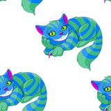 Cheshire Cat Pattern libre illustration