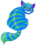Cheshire Cat. Sitting and looking back Stock Photo