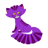 Cheshire cat smile isolated. Fantastic pet alice in wonderland. Stock Photography