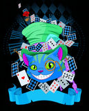 Cheshire Cat in Top Hat design Stock Photography