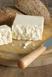 Cheshire cheese. Cheshire a traditional dense and crumbly white British cheese one of the oldest recorded named cheeses in British history royalty free stock photos