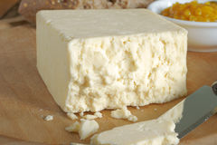 Cheshire cheese. Cheshire a traditional dense and crumbly white British cheese one of the oldest recorded named cheeses in British history stock photos