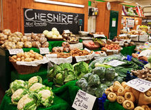 Cheshire farm market. One of the most popular place place in Cheaster for buying fresh farmer's food Stock Photography