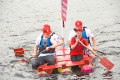 Cheshire Home takes part in  raft race. Royalty Free Stock Photo