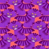 Cheshire kota uśmiechu wzór tekstury Fantastyczny zwierzę domowe Alice Zdjęcia Royalty Free