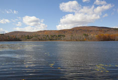 Cheshire Lake. An autumn view of Cheshire Lake in the Berkshires of Western Massachusetts royalty free stock photo