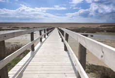 Chesil海滩木板走道 免版税库存图片