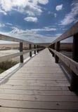 Chesil海滩木板走道 库存照片