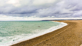Chesil Beach from Fortuneswell. Stock Photo