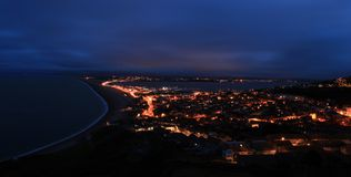 Chesil beach at night Stock Image