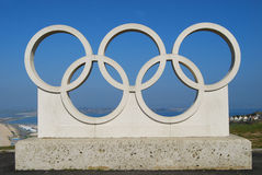Chesil Beach & Olympic Rings Stock Images