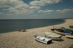 Chesil Beach Stock Photo