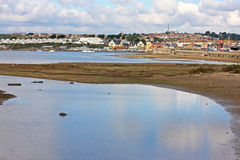 Chesil Beach sand flats Royalty Free Stock Photography