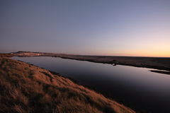 Chesil beach uk Dorset and portland Stock Photo