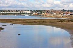 Chesil plaży piaska mieszkania Fotografia Royalty Free