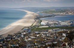 Chesil-Strand, Dorset Stockfoto