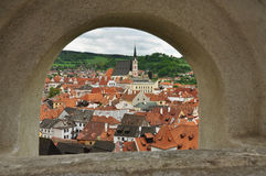 Chesky Krumlov town, Czech Republic Stock Photos