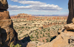 Chesler parkerar synvinkeln, den Canyonlands nationalparken UT Arkivfoton