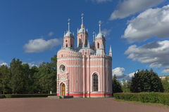 Chesma Cathedral at St.Petersburg, Russia. One of the most commanding and majestic examples of Gothic architecture in Saint Petersburg, the Chesma Cathedral Royalty Free Stock Image