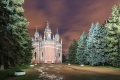 Chesme教会,圣彼德堡 免版税库存照片