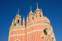 Chesme Church architect Yury Velten in St. Petersburg Stock Photography