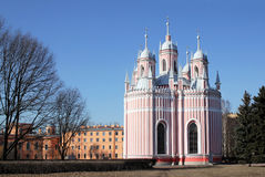 The Chesme Church and Chesme Palace Royalty Free Stock Image