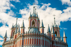Chesme Church. Church of St John the Baptist Chesme Palace in Saint Petersburg, Russia Royalty Free Stock Photography