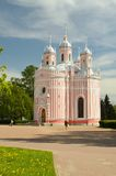 Chesme Church in Saint Petersburg. Russia.Chesme Church - active Orthodox temple in Saint-Petersburg Royalty Free Stock Image