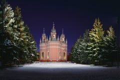 Chesme Church, St. Petersburg. ChesmThe operating Orthodox Church in St. Petersburge Stock Photo