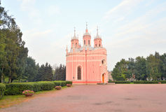 Chesme Church in St.Petersburg. The Church of the Nativity of St. John the Baptist is a functioning Orthodox church in St. Petersburg, an architectural monument Royalty Free Stock Photography