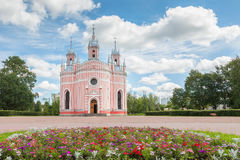 Chesme Church in St Petersburg, Russia. Chesme Church (Church of St John the Baptist Chesme Palace) in Saint Petersburg Royalty Free Stock Photo
