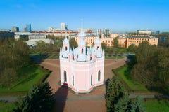 Chesme Church on a sunny April morning. Saint-Petersburg, Russia. Chesme Church on a sunny April morning. Saint-Petersburg. Russia Stock Photos