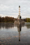 Chesme Column in Catherine Park in Pushkin. Royalty Free Stock Photos