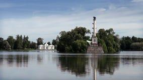 The Chesme Column. Catherine Park. Pushkin stock video