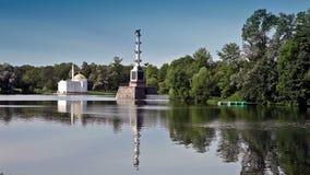 The Chesme Column. Catherine Park. Pushkin stock footage