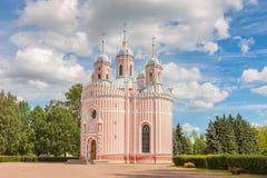 Chesme kyrka i St Petersburg, Ryssland Arkivfoto
