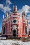Chesmen church. Neo-Gothic Chesmen church in St. Petersburg Stock Photo