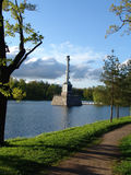 Chesmenskaya column. Foto of Chesmenskaya column in Tsarskoe Selo Royalty Free Stock Photography