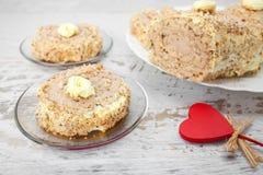 Chesnut et gâteau de noix Images libres de droits