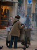 Chesnuts στη Λισσαβώνα Στοκ Εικόνες