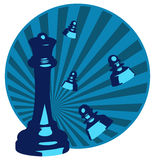 Chess. Design of illustrations of chess Royalty Free Stock Photography