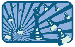 Chess. Design of illustrations of chess Stock Images