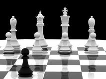 Chess. White begin 3d model Royalty Free Stock Photo