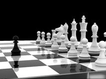 Chess. White begin 3d model Royalty Free Stock Image