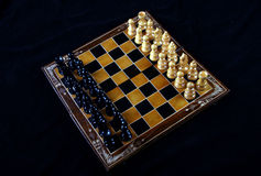 Chess. Table top of game of chess Stock Images