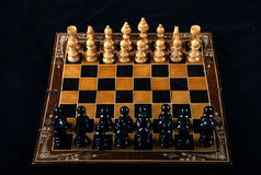 Chess. Table top of game of chess Stock Photography